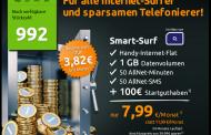 50 Frei-Minuten, 50 Frei-SMS, 1GB im o2-Netz für rechnerisch nur 4 € pro Monat