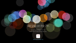 Apple Keynote September 2016 19Uhr MEZ: Vorstellung iPhone 7, AppleWatch 2?