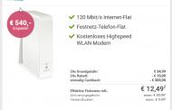 Kabel-Internet Angebot: bis zu 120Mbit/s Download für rechnerisch nur 14,99 Euro pro Monat!